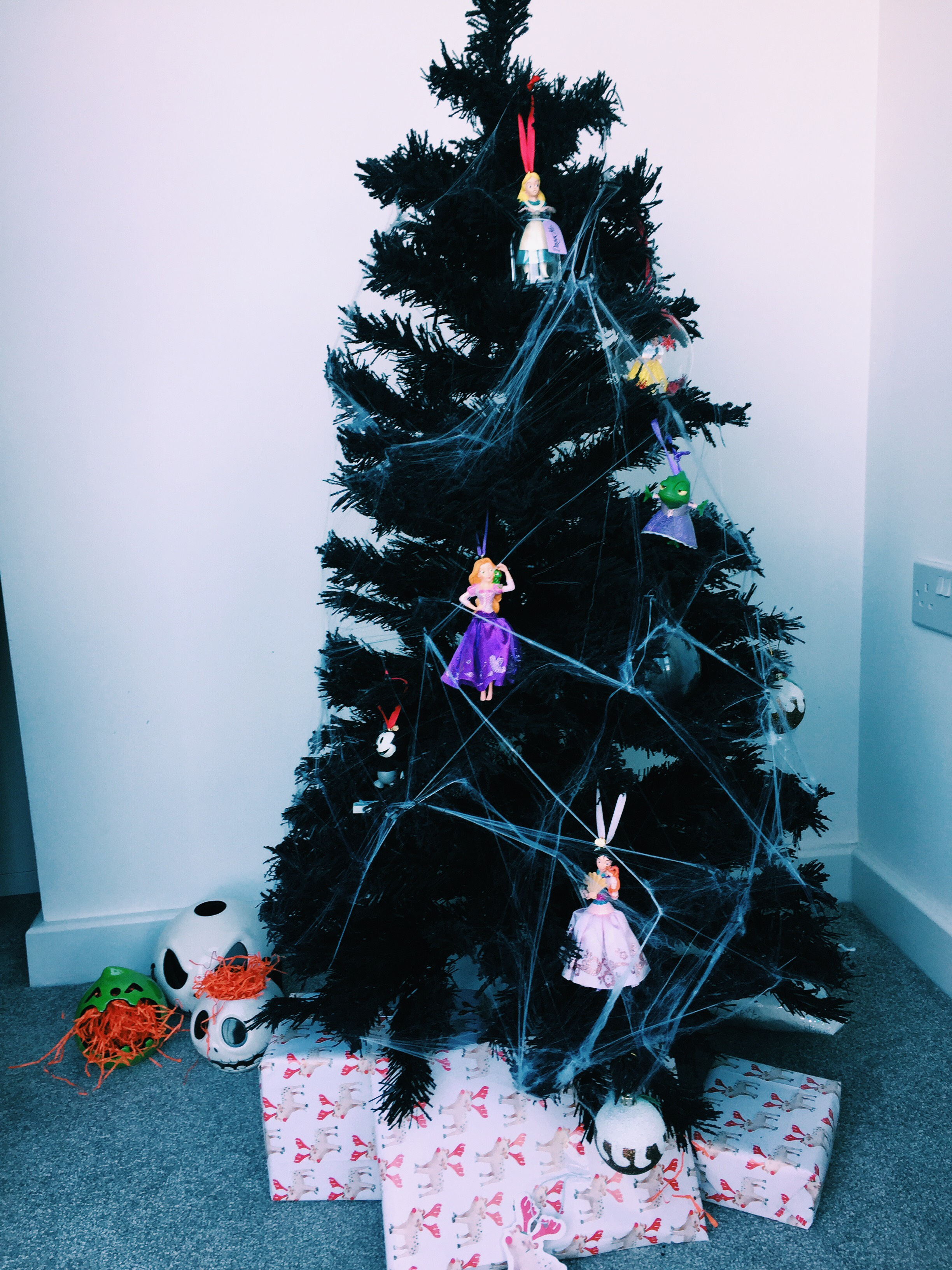 Halloween Christmas Tree.My Disney X Halloween Christmas Tree Lilcolourfreak