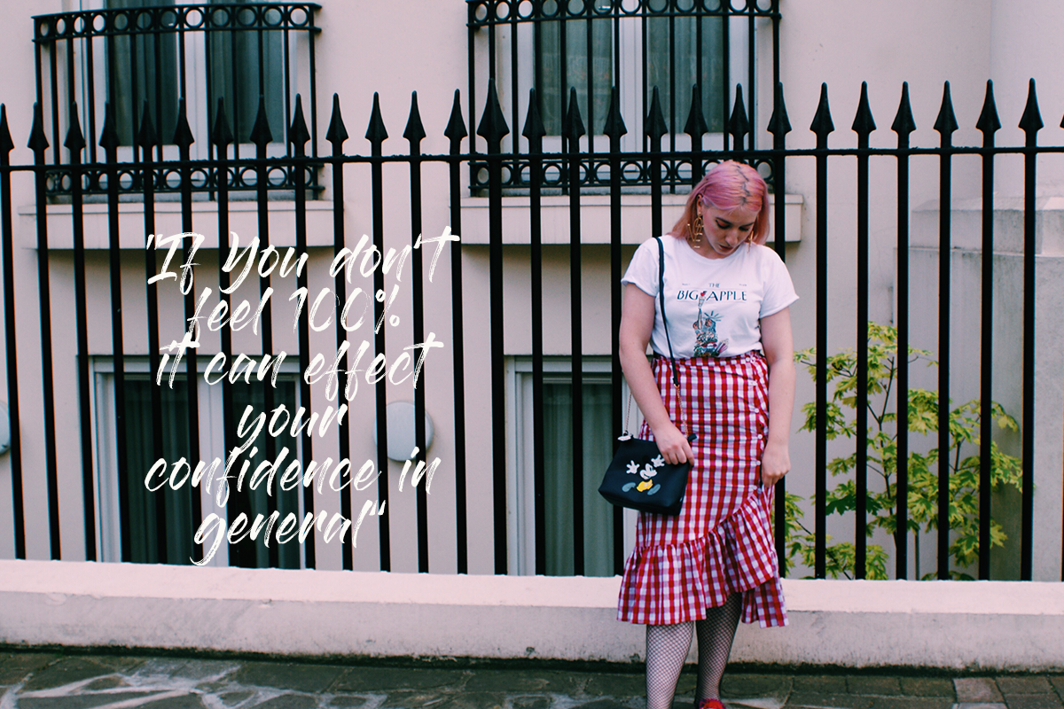 gingham skirt quote confidence