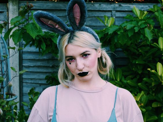 black lips bunny ears lime crime lipstick