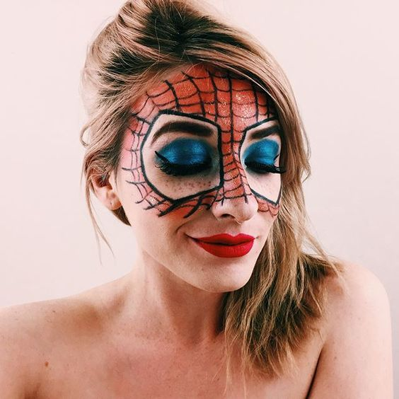 hero, marvel, spiderman, makeup