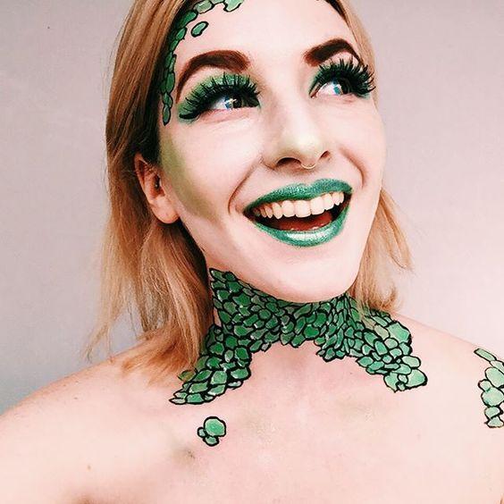 snake, lizard, halloween,makeup