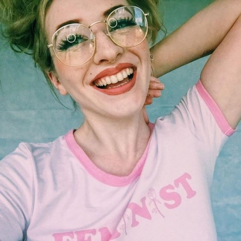 faux freckles nude lip faux eyelashes glasses