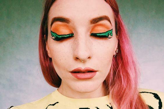 halloween, eye make up, make up, cosmetics