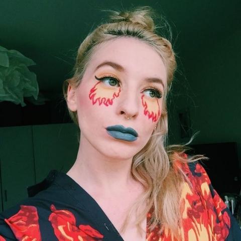 Flame emoji fire makeup