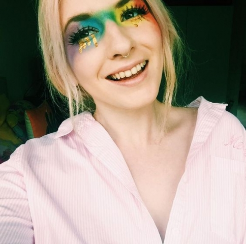 rainbow make up pride gold tears